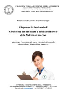 Diploma Professionale Di Consulente Del Benessere E Della Nutrizione Universita Upsn